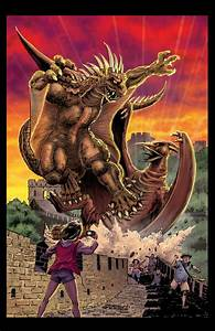 Varan vs. Rodan - Godzilla Fan Artwork Image Gallery