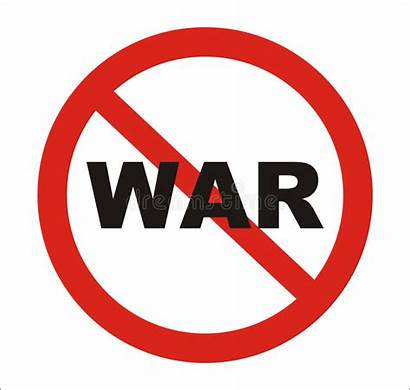 War Anti Sign Vector Stop Symbol Round