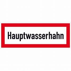 Rettungsleitern Für Den Brandfall : hinweisschild f r den brandschutz hauptwasserhahn g nstig ~ Lizthompson.info Haus und Dekorationen