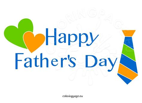 Happy Fathers Day Clipart Happy S Day Images Coloring Page