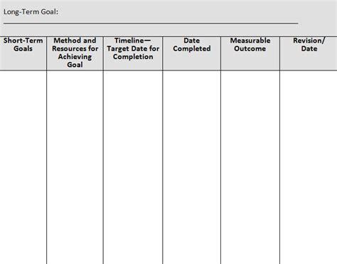 Short Term Goal Setting Worksheet Worksheets For All