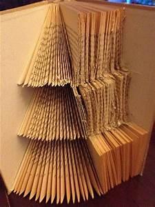 Tannenbaum Falten Anleitung : anleitung weihnachtsbaum in die seiten eines buches ~ Lizthompson.info Haus und Dekorationen