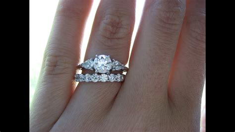 luxury what goes on first engagement and wedding ring