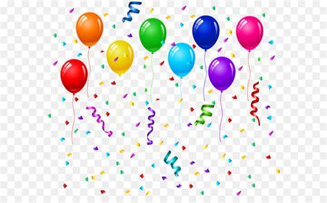 birthday cake balloon party greeting card confetti