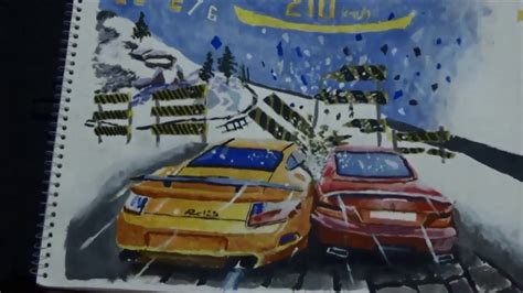 Speed Drawing Asphalt 8 game Painting Spike Arts with