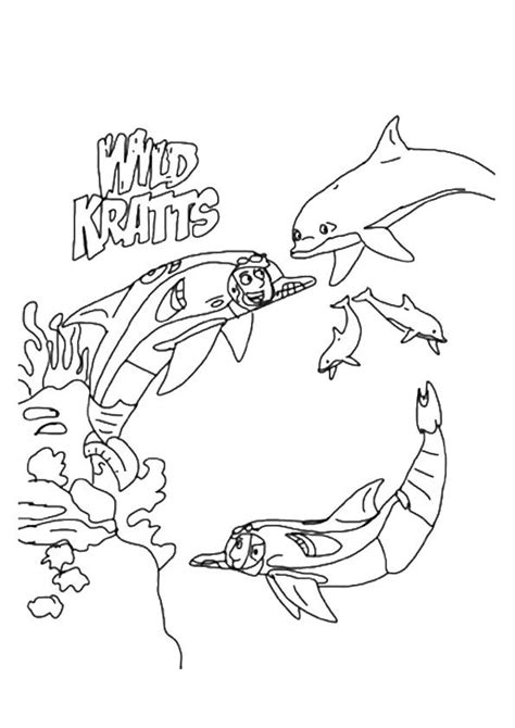 printable underwater wild kratts coloring picture assignment sheets pictures  child