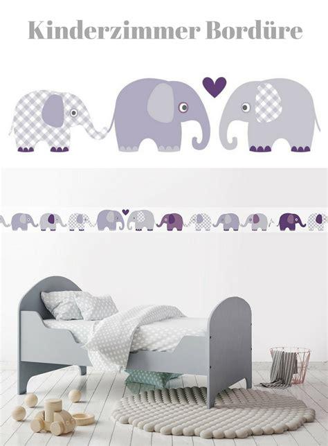 Kinderzimmer Mädchen Bordüre by Bord 252 Re Selbstklebend Elefanten Aubergine Grau