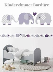 Bordüre Selbstklebend Grau : bord re selbstklebend elefanten aubergine grau wandbord re kinderzimmer babyzimmer mit ~ Watch28wear.com Haus und Dekorationen