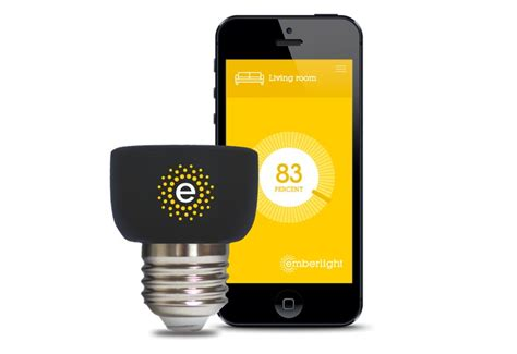 emberlight smartphone controlled light bulb adapter