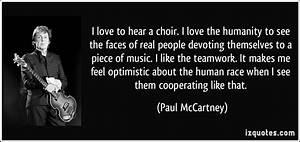 Choir Quotes An... Paul Mccartney Quotes