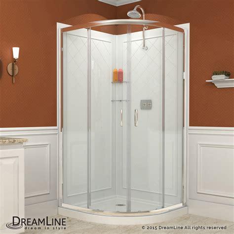 shower kit prime sliding shower enclosure base backwall kits