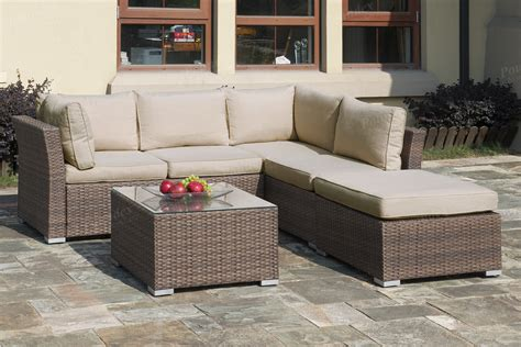 Outdoor Patio Sofa Set by Lizkona Outdoor Patio 4 Pcs Sectional Sofa Set With Coffee