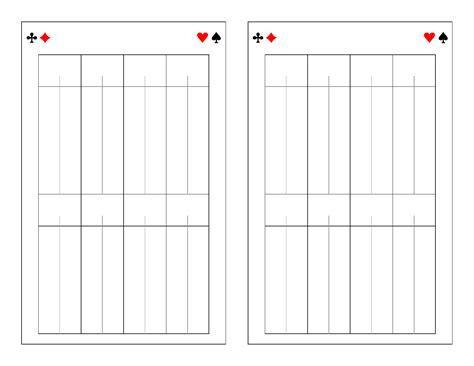 Printable Bridge Score Sheet Template Template Bridge Score Sheet Bridge Score Sheet