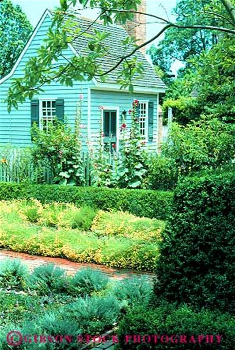 home garden colonial williamsburg virginia stock photo 11578