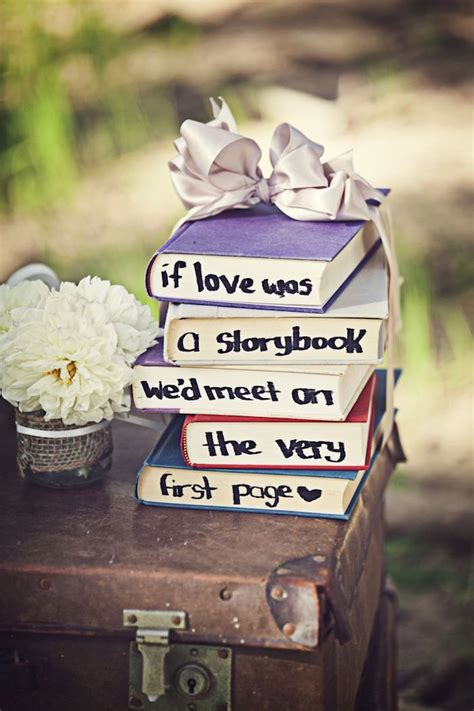 Books For Decor - 28 of the most inspirational vintage wedding ideas
