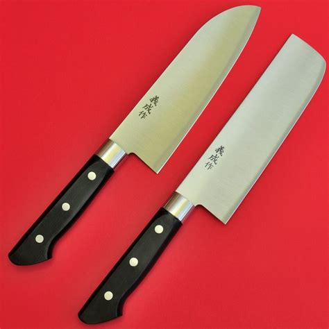 Japanese Kitchen Knives by Japanese Kitchen Chef Knives Set Nakiri Santoku 29cm
