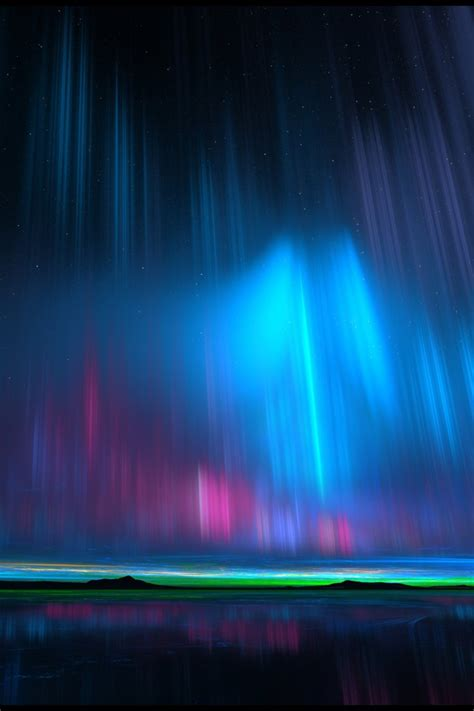 wallpaper northern lights hd creative graphics