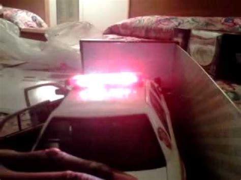 crown vic led light bar 1 18 scale crown vic led light bar flash patterns youtube