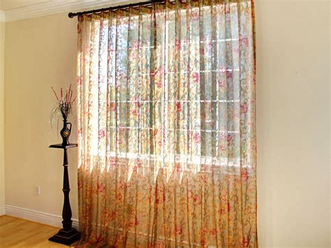 sheer curtain panels 4 styles of floral sheer curtains
