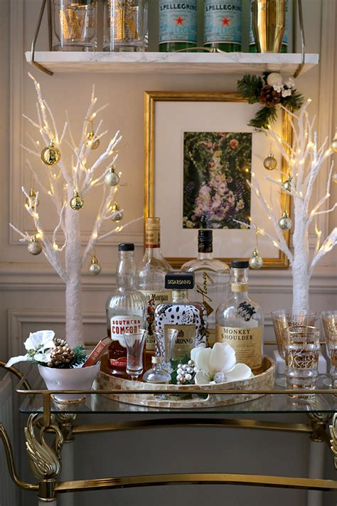 christmas bar cart ideas  wishing  warm