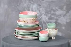 Keramik Geschirr Handgemacht : aufgetischt keramik im handmade look hipster home ~ Frokenaadalensverden.com Haus und Dekorationen