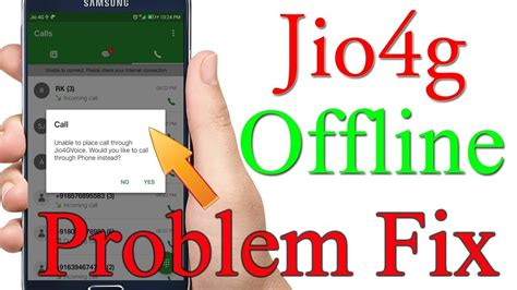 how to fix reliance jio 4g voice offline problem 2018