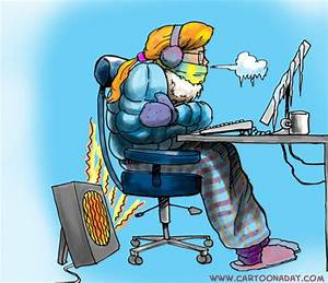 Keeping Warm in a Chilly Office
