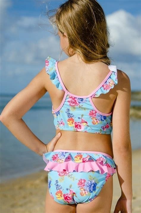 girls crop top bikini set