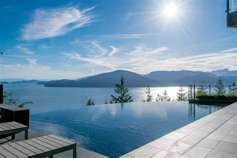 luxury ocean view home  mountain drive west vancouver