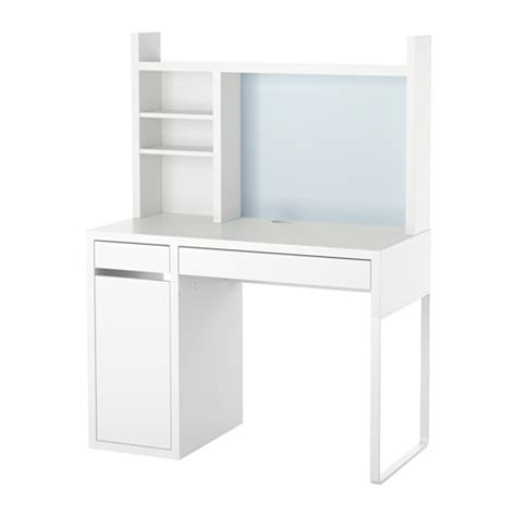 micke bureau blanc micke poste de travail blanc ikea