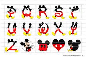 Mickey Mouse Printable Alphabet Letters