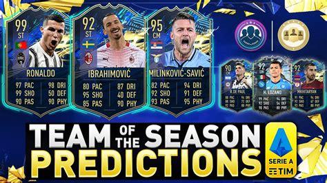 Ma che stagione hanno fatto? SERIE A TOTS PREDICTION! FIFA 21 SERIE A TEAM OF THE SEASON PREDICTIONS! - YouTube