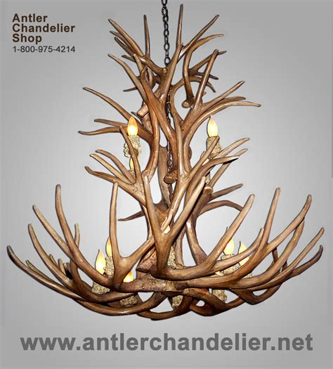 faux deer antler chandelier faux mule deer antler chandelier 12 lights rustic ls
