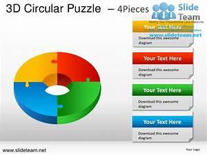 3d Cycle Circular Round Jigsaw Maze Piece Puzzle 4 Pieces