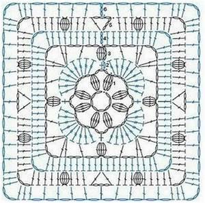 Ergahandmade  14 Granny Square Crochet Diagrams