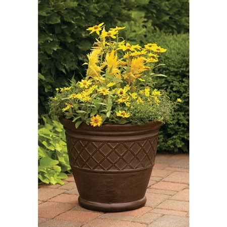 better homes and gardens planters better homes and gardens 22 quot weathered lattice planter