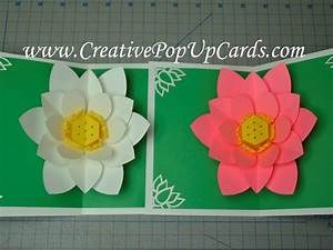 Mother's Day Lotus Flower Pop Up Card Tutorial - YouTube