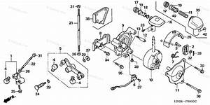 Honda Atv 2001 Oem Parts Diagram For Select Lever
