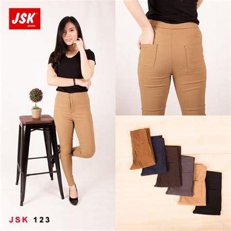 Celana Large Size Wh0106 jual celana bahan wanita jsk 123 kopi size s m l
