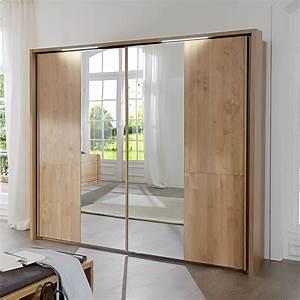 Kleiderschrank Mit Beleuchtung : schwebet renschrank in erle mit spiegel und beleuchtung ageo ~ Sanjose-hotels-ca.com Haus und Dekorationen