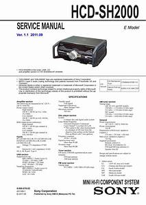 Manual De Servi U00e7o Mini System Sony Hcd Sh2000 By Portal Da
