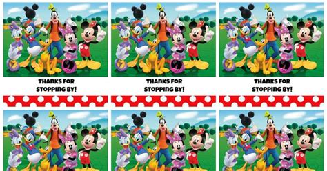 printable mickey mouse clubhouse favor tags
