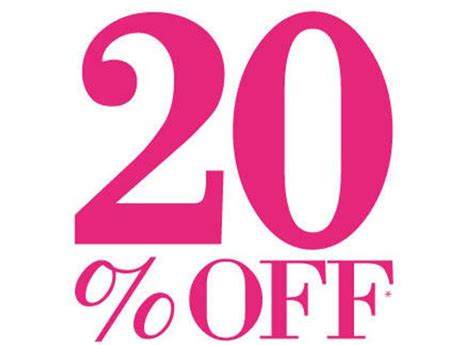 20% Off Every Item Huge Sale 20 Percent Off By