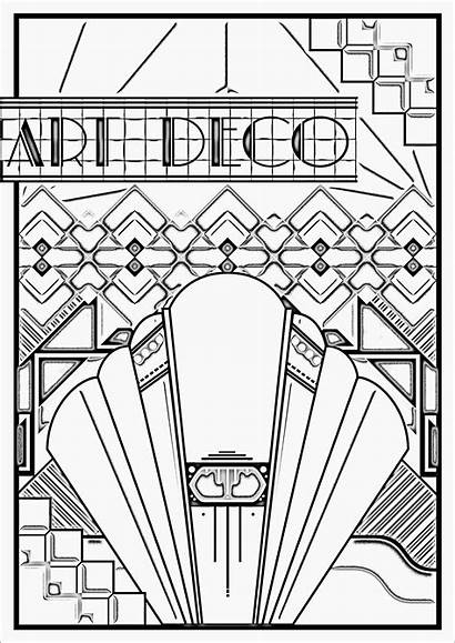 Coloring Deco Pages Adults Poster Adult Patterns
