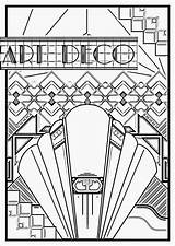 Deco Coloring Pages Adults Poster Adult 1920s Sheets Patterns Nouveau Geometric Printable Colouring Getcolorings Motifs Everfreecoloring sketch template