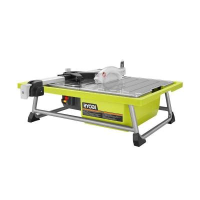 tile saws home depot ryobi 7 in tabletop tile saw ws722 the home depot