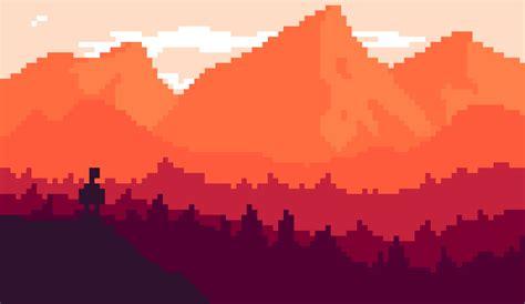 Pixel Art Landscape Wallpaper Pixel Art Landscape Wallpaper Firewatch By Andlai9087 On Deviantart