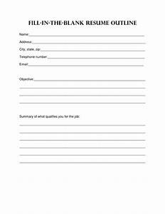 8 best images of printable outline format blank essay With printable resume outline