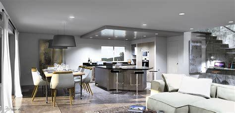 amenagement cuisine ouverte sur salle a manger 3 salle 224 manger et cuisine dune surface de