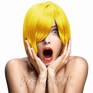 Crazy Color Canary Yellow Semi Permanent Hair Dye Bright